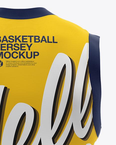 Basketball Jersey Mockup - Back View
