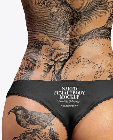 Naked Woman Mockup - Back View