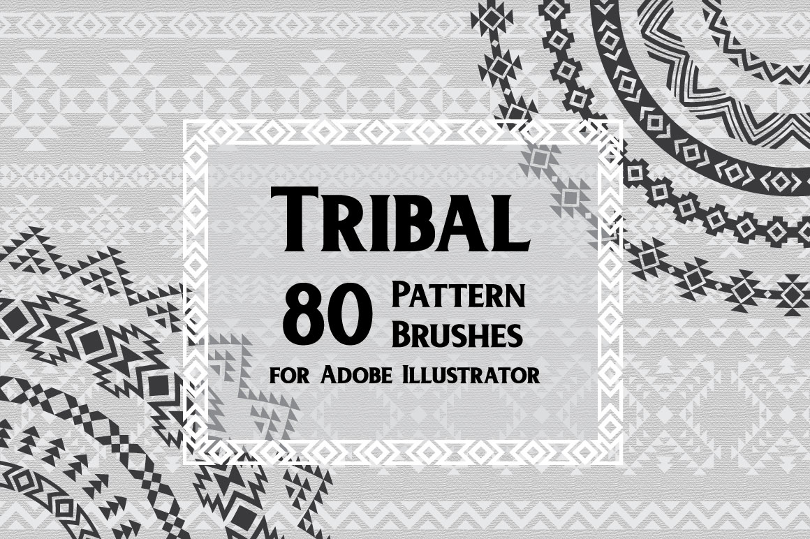 80 Tribal Pattern Brushes for Adobe Illustrator