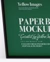 Matte Paper Box Mockup (High-Angle Shot)