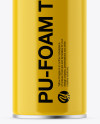750ml Glossy Pu-Foam Tube Mockup