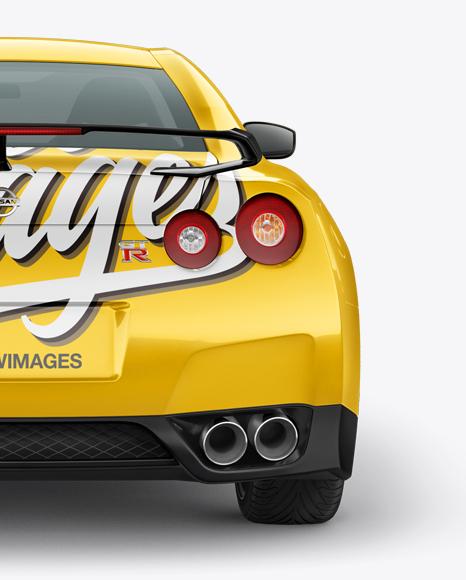 Nissan GTR Mockup - Back view