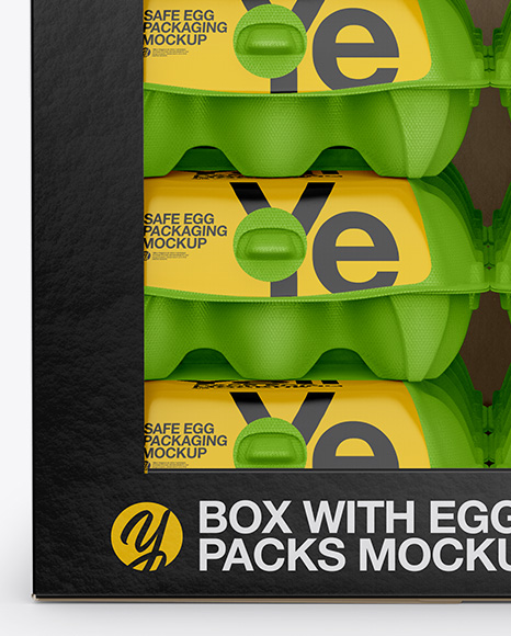 Download 12 Eggs Carton Safe Pack Mockup Half Side View High Angle Shot PSD - Free PSD Mockup Templates