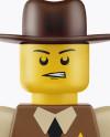 Sheriff Mini Figure Mockup
