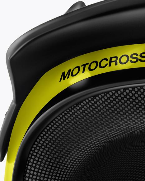 Motocross Helmet Mockup - Front View