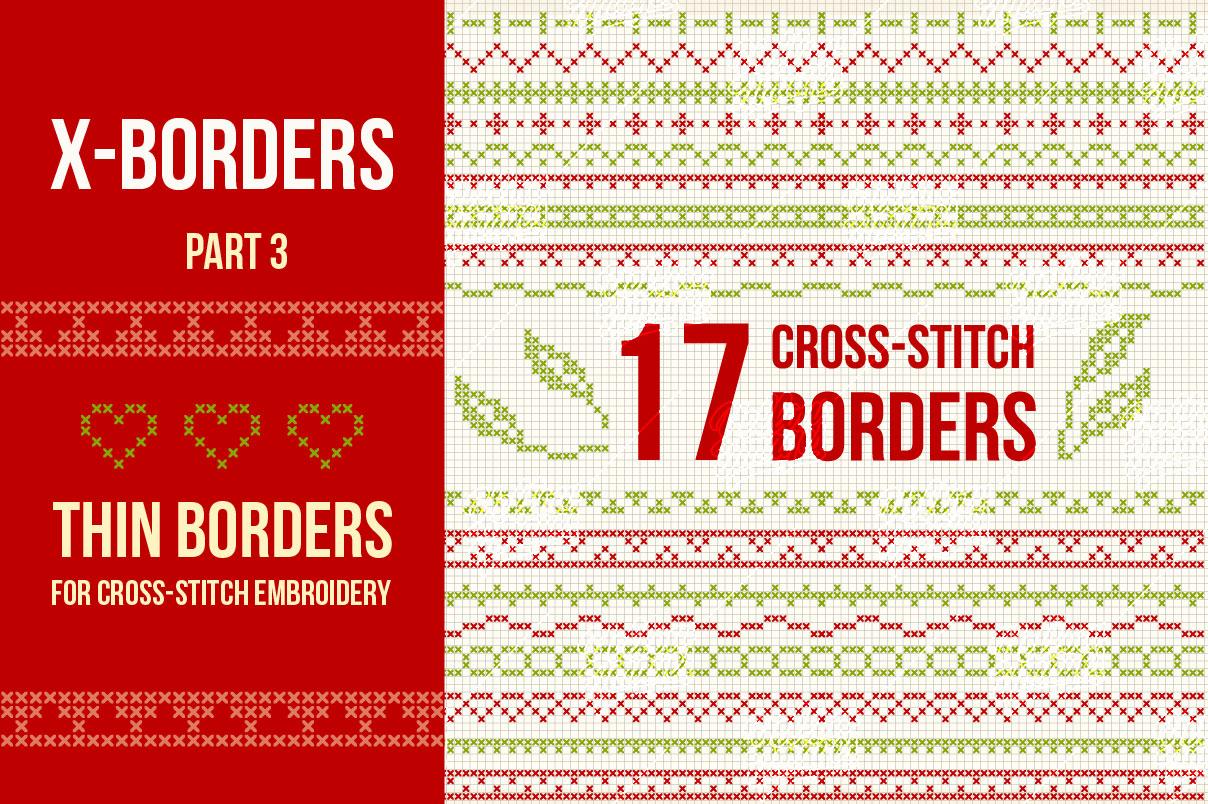 17 Cross-stitch borders (Part 3)