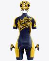 Women's Full Cycling Kit mockup (Back View)