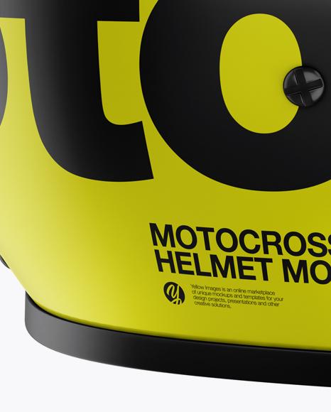 Motocross Helmet Mockup - Side View