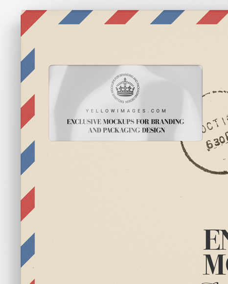 Download Paper Envelope Mockup Front View In Stationery Mockups On Yellow Images Object Mockups PSD Mockup Templates