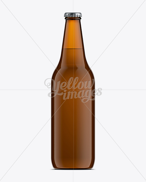 66cl Vichy Amber Bottle Mock Up