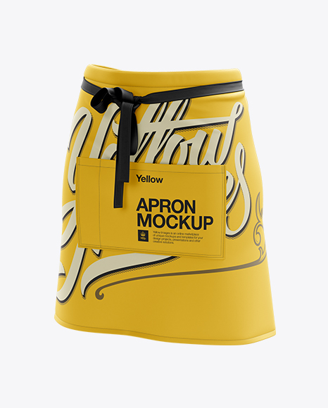 Download Half Apron Mockup Halfside View Yellowimages