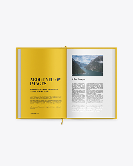 Hardcover Novel Book Mockup In Stationery Mockups On Yellow