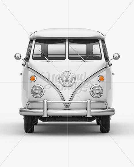 Volkswagen Transporter T1 Mockup Front View