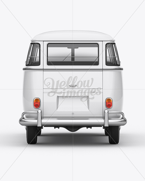 Volkswagen Transporter T1 Mockup Back View