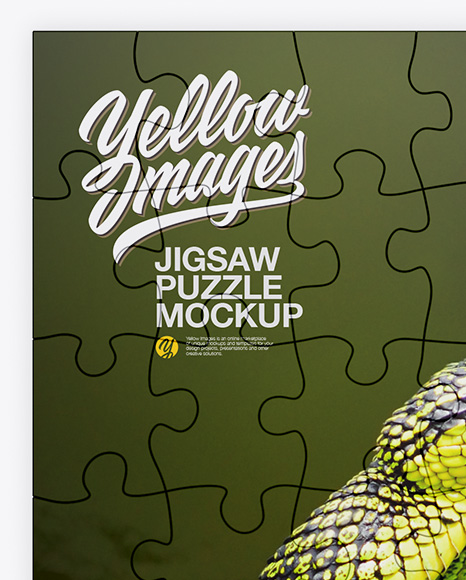 Jigsaw Puzzle Mockup - Top View