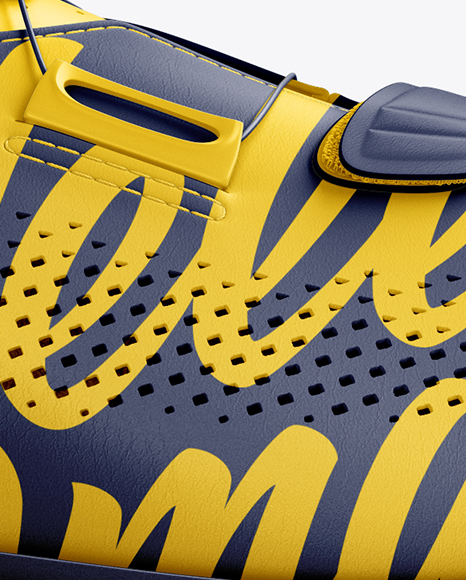 Download Cuffed Soccer Cleat Mockup Half Side View Yellowimages