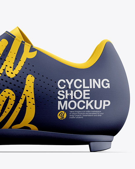 Road Cycling Shoe mockup (Inside View)