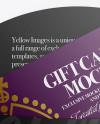 Gift Card in Envelope Mockup - Top View