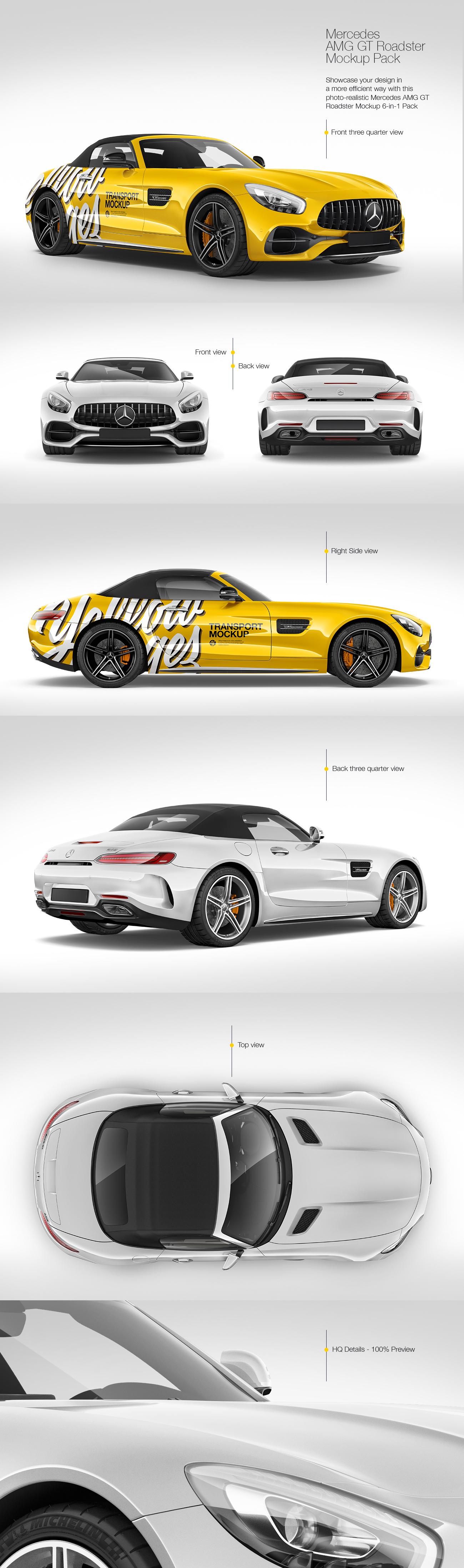 Mercedes AMG GT Roadster Mockup Pack