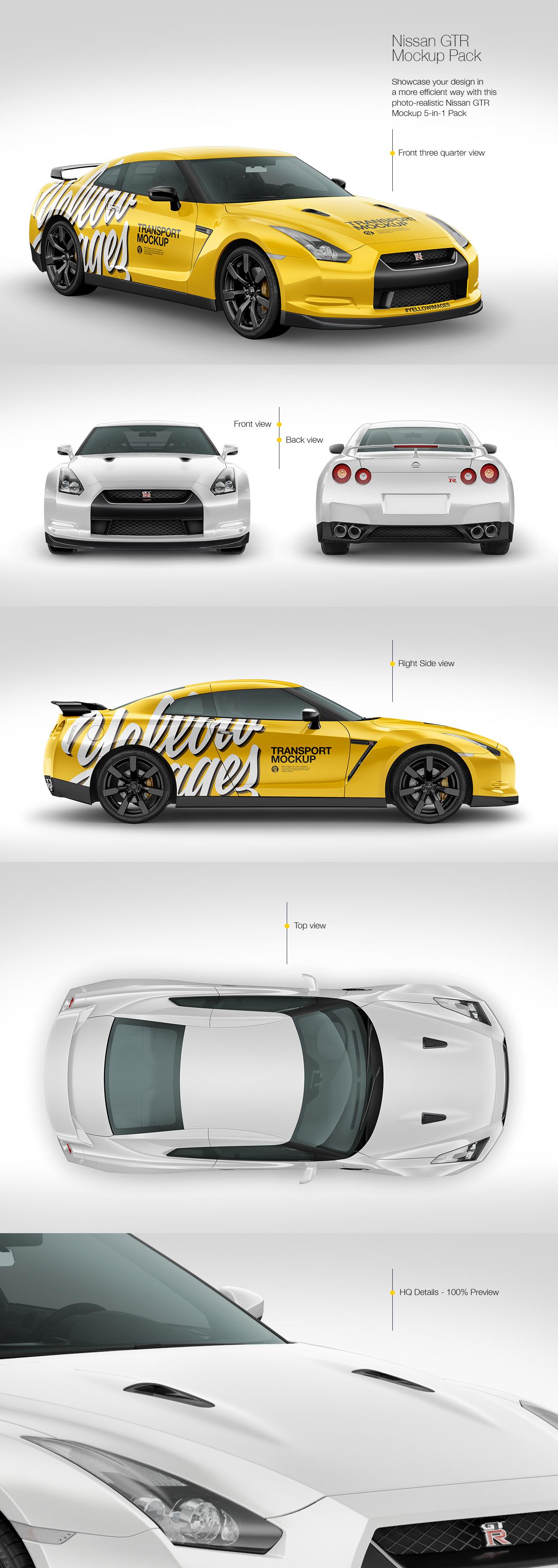 Nissan GTR Mockup Pack