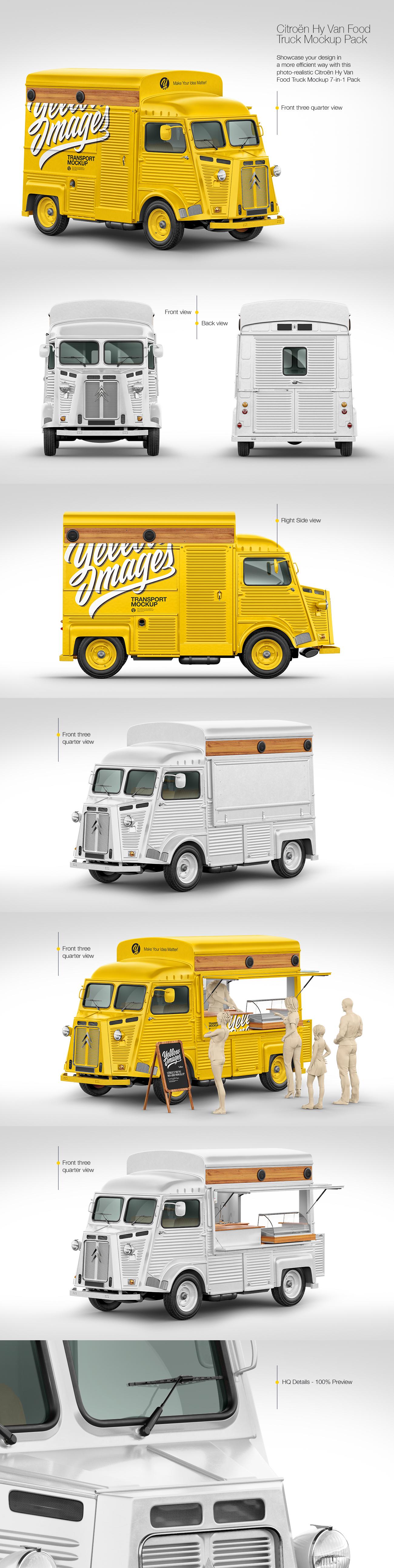 Citroen Hy Van Food Truck Mockup Pack