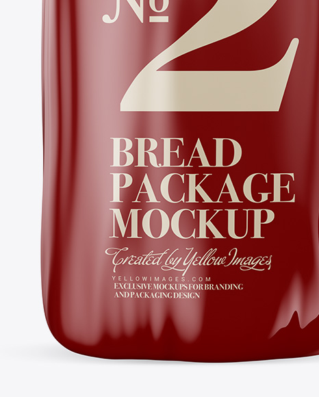 Download Glossy Bread Package With Clip Mockup In Packaging Mockups On Yellow Images Object Mockups