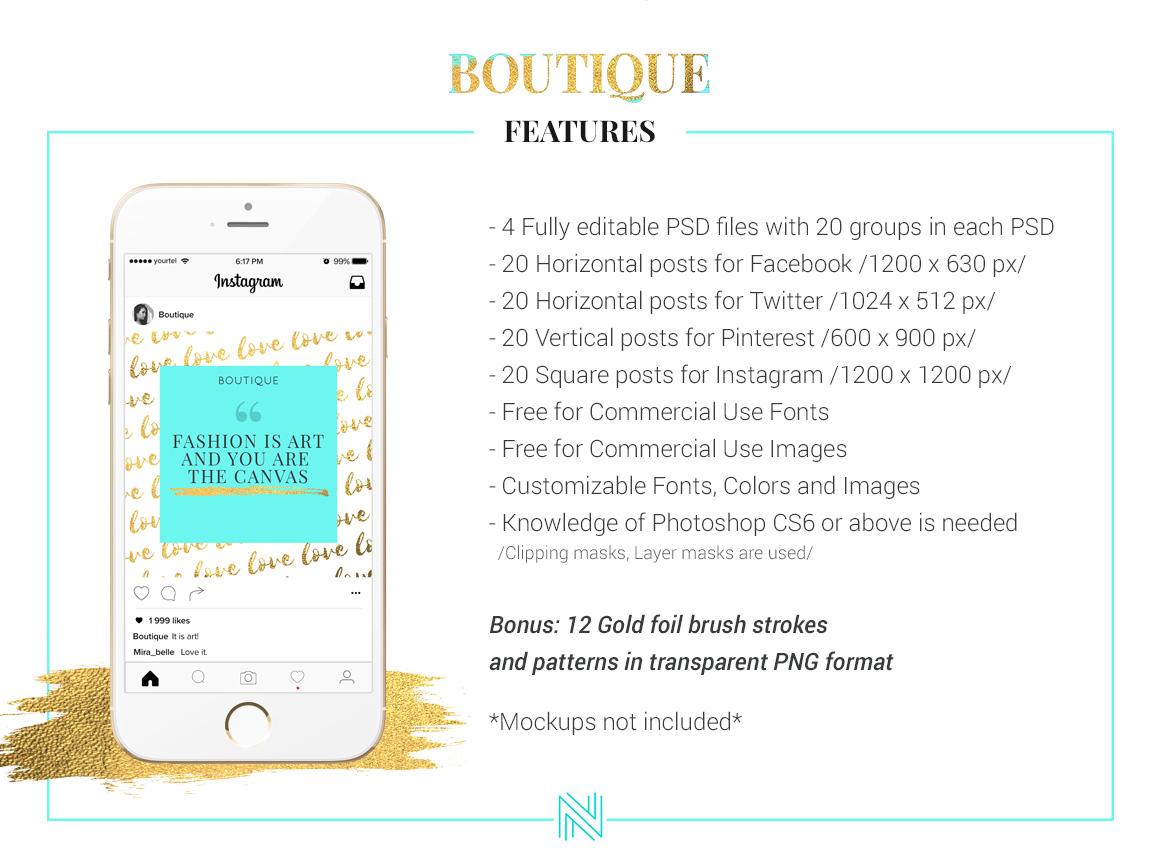 Boutique Social Media Pack