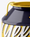 Glossy Tin Can Mockup - Half Side View