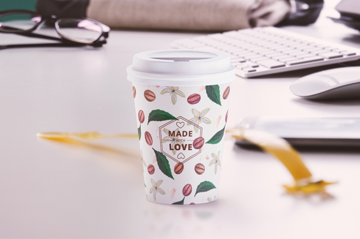 Small Coffee Cup Animated Mockup