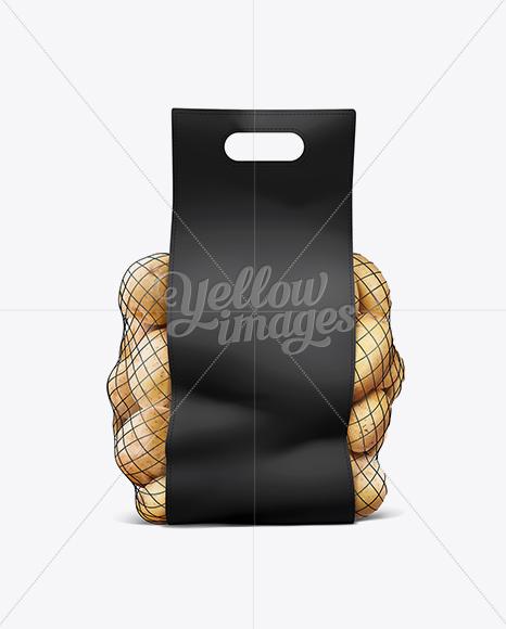Net Bag With Potato Black