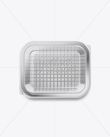 Download Plastic Tray With Sliced Ham Mockup Front View High Angle Shot PSD - Free PSD Mockup Templates