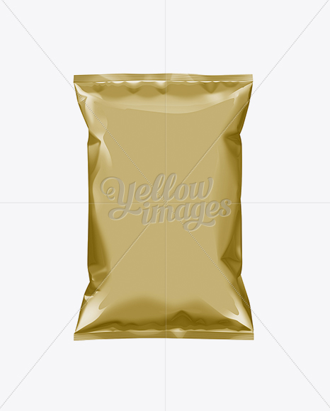 Download Plastic Snack Package Mockup Halfside View In Flow Pack Mockups On Yellow Images Object Mockups PSD Mockup Templates