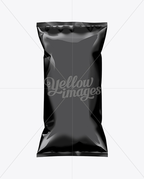 Download Plastic Snack Package Mockup Halfside View In Flow Pack Mockups On Yellow Images Object Mockups Yellowimages Mockups