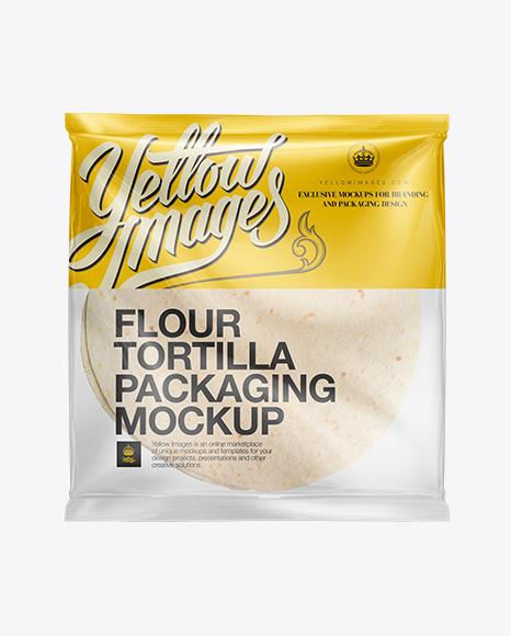 White Corn Tortillas Packaging Mockup