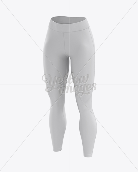 Women's Leggings Mockup - Front 3/4 view