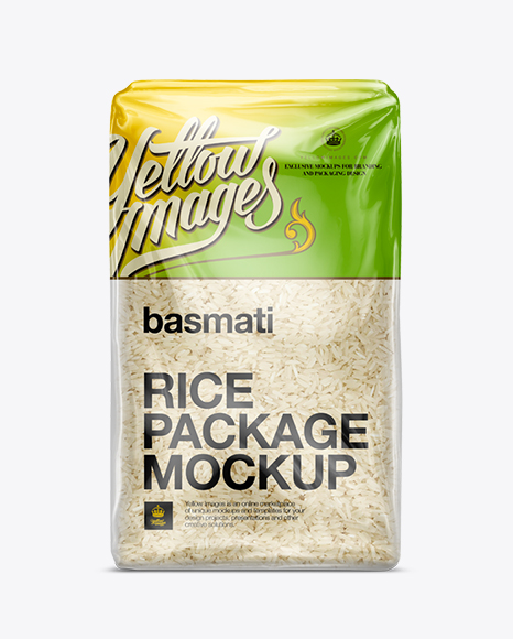 Download Basmati Rice Package Mockup In Bag Sack Mockups On Yellow Images Object Mockups PSD Mockup Templates