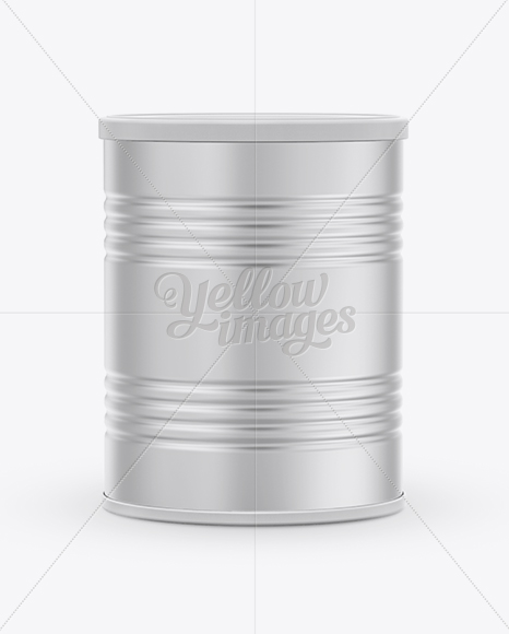 Milk Powder Can Mockup in Can Mockups on Yellow Images