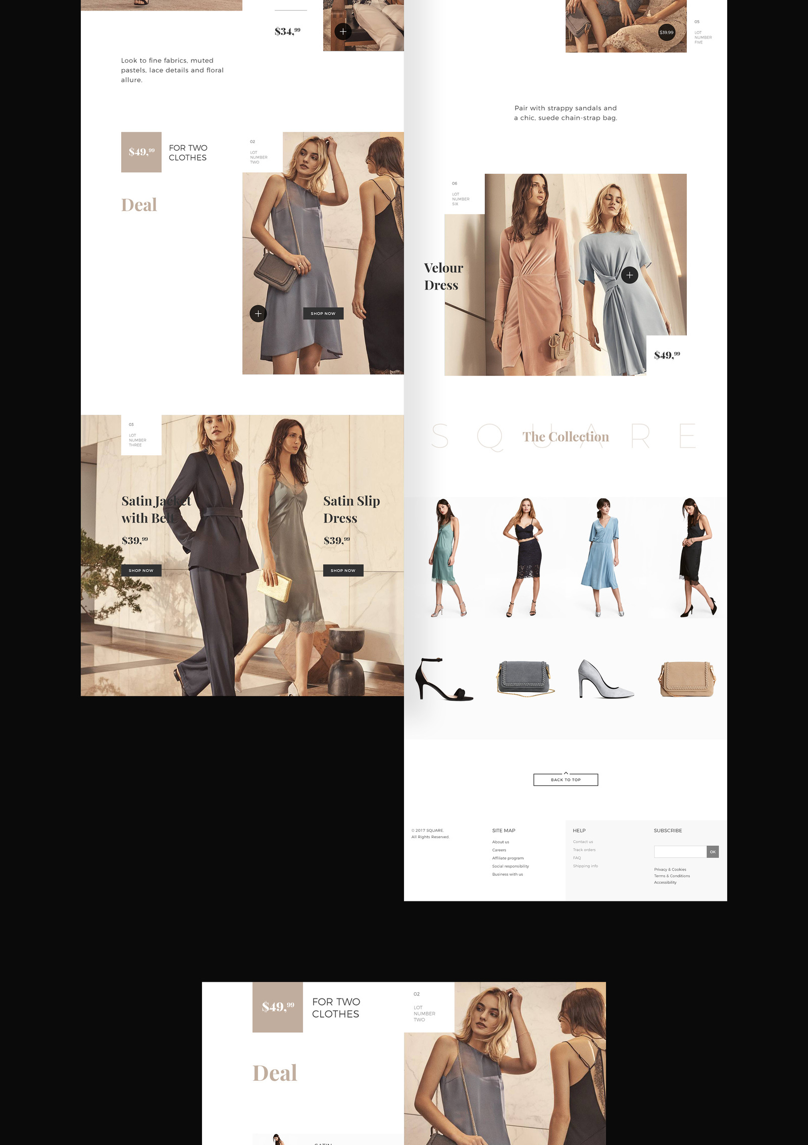 SQUARE LookBook template