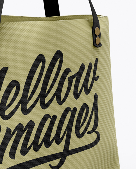 Download Canvas Bag Mockup Top View Yellow Images