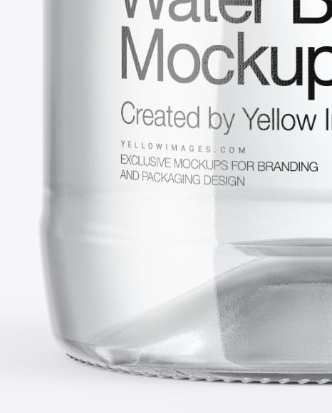 500ml Clear Glass Water Bottle Mockup