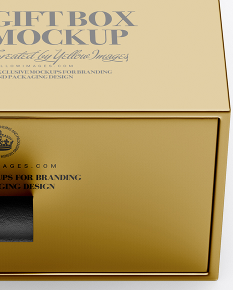 Download Metallic Gift Box Mockup PSD - Free PSD Mockup Templates
