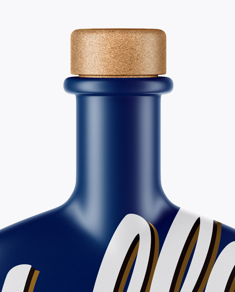 Matte Bottle With Wooden Cap Mockup