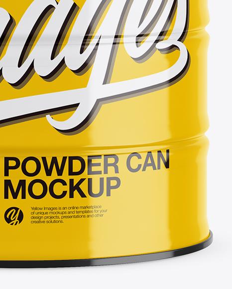 Glossy Powder Can Mockup