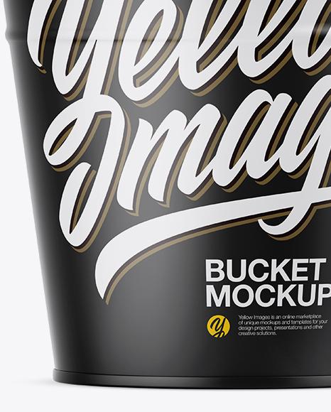 Matte Bucket Mockup - Front View