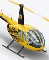 Helicopter Mockup - Half Side View (High-Angle Shot)