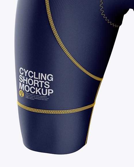 Download Mens Cycling Shorts V2 Mockup Back View Yellowimages