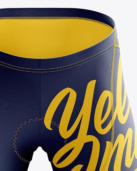 Men's Cycling Shorts v2 mockup (Front View)