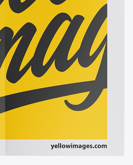 Vertical Paper Poster Mockup