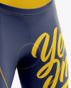Men's Cycling Shorts v2 mockup (Right Half Side View)