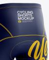 Men's Cycling Shorts v2 Mockup (Back Left Half Side View)